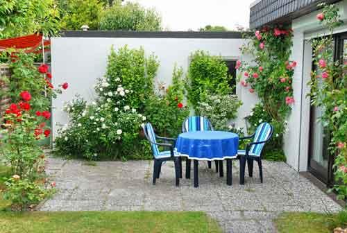Terrasse der Ferienwohnung in Cuxhaven Döse