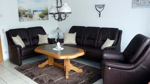 Wohnraum des Ferienhauses Grawe in Cuxhaven