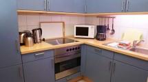 eine Küche im Appartementhaus Schildt in Cuxhaven Duhnen