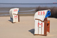 Strandkörbe in Cuxhaven Döse