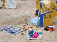 Strandkorb in Cuxhaven Sahlenburg