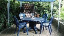 Gästeterrasse der Ferienwohnung in Cuxhaven Berensch